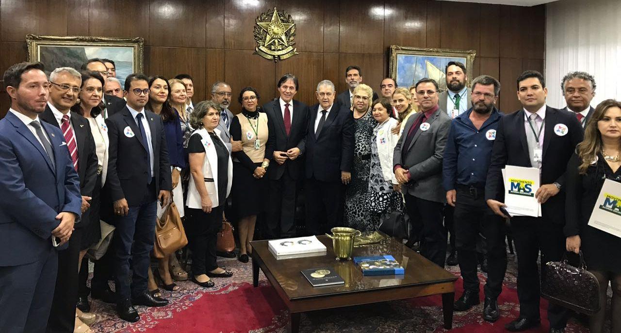 ASBIN e entidades de servidores se reúnem com presidente do Senado