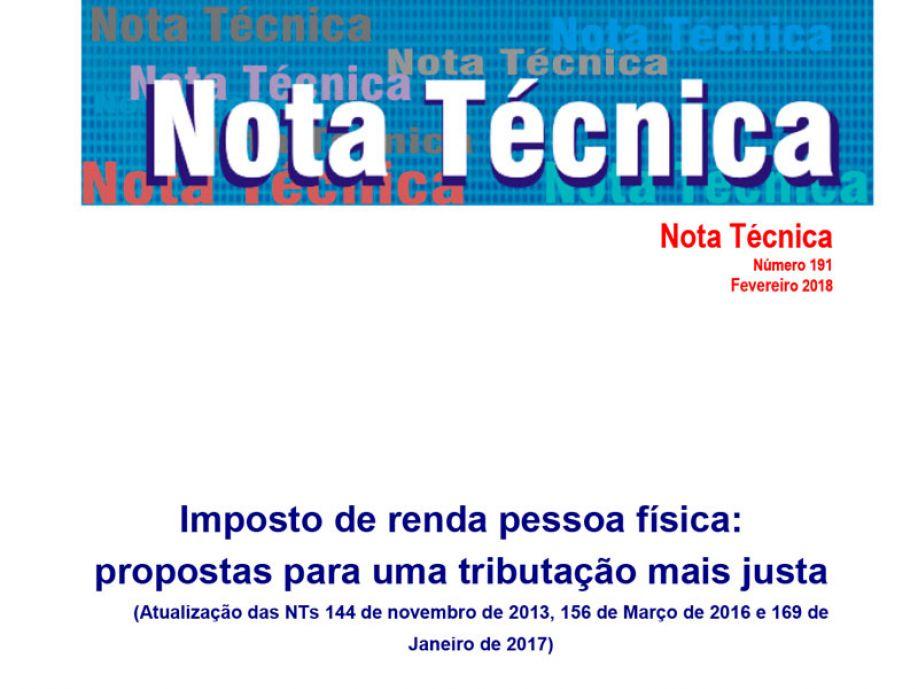 Dieese lança nota técnica sobre IRPF