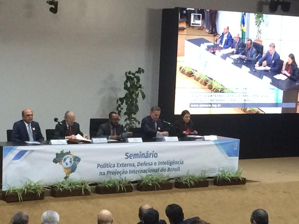 ASBIN presente no seminário Política Externa, Defesa e Inteligência