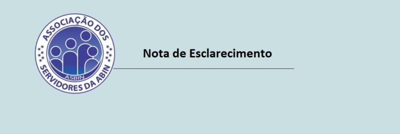 Por respeito aos servidores da Agência Brasileira de Inteligência